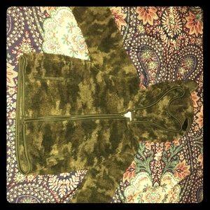 Navy Green Teddy Jacket